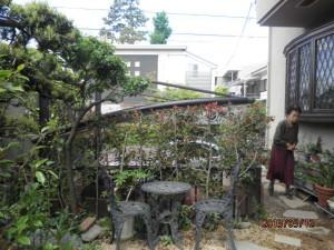 施工前 カーポート屋根