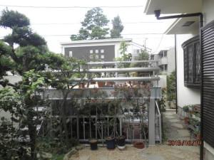 諏訪様完了 お庭からの写真です。